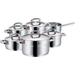 wmf pannenset »premium one« 11-delig zilver