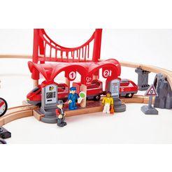 hape speelgoed-stationsgebouw treinset - drukke stad multicolor