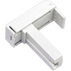 gardinia klemdrager klemsteun universeel voor aluminium jaloezien 25 mm (set, 2 stuks) wit