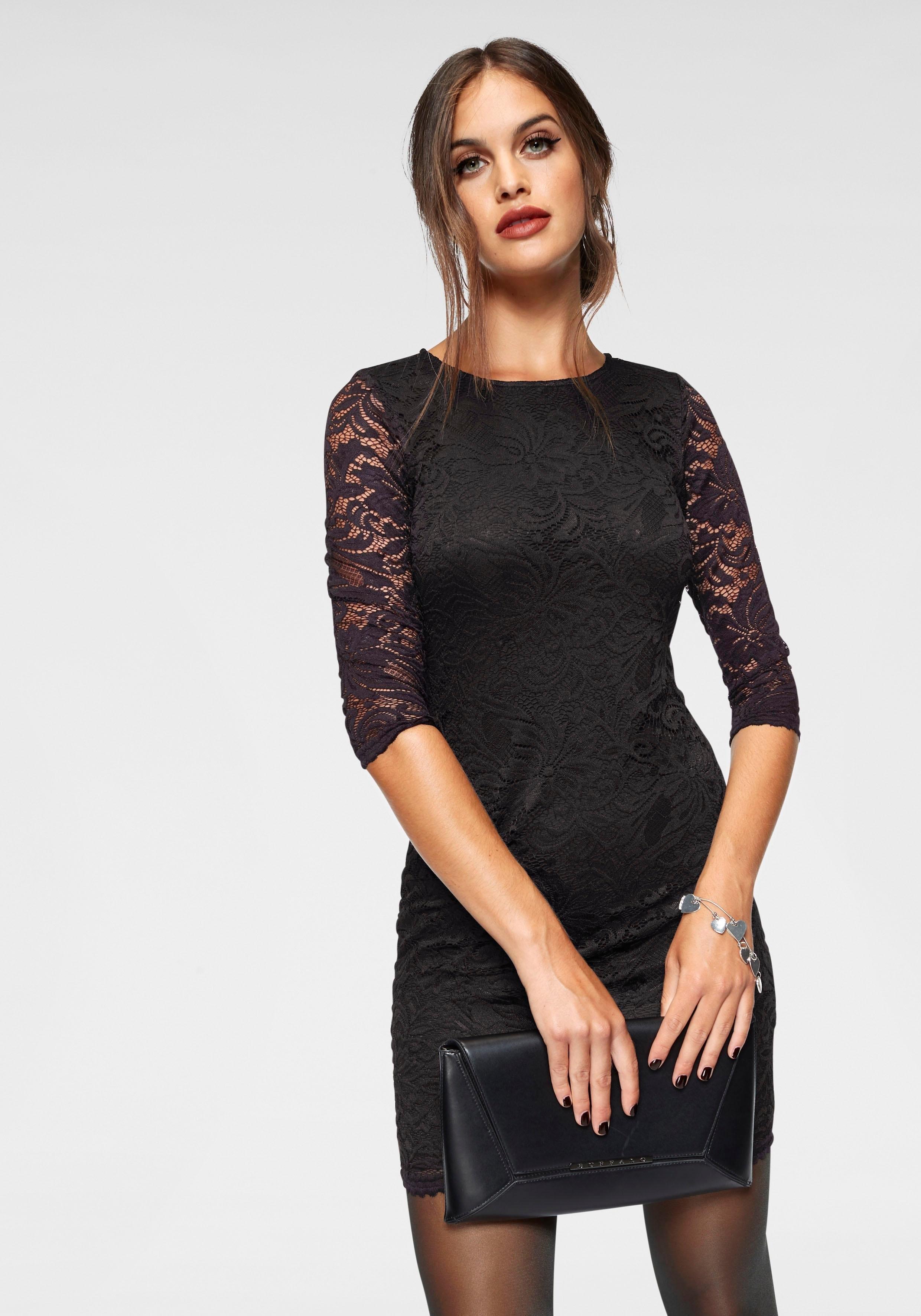 VERO MODA kanten jurk »SANDRA« nu online kopen bij OTTO