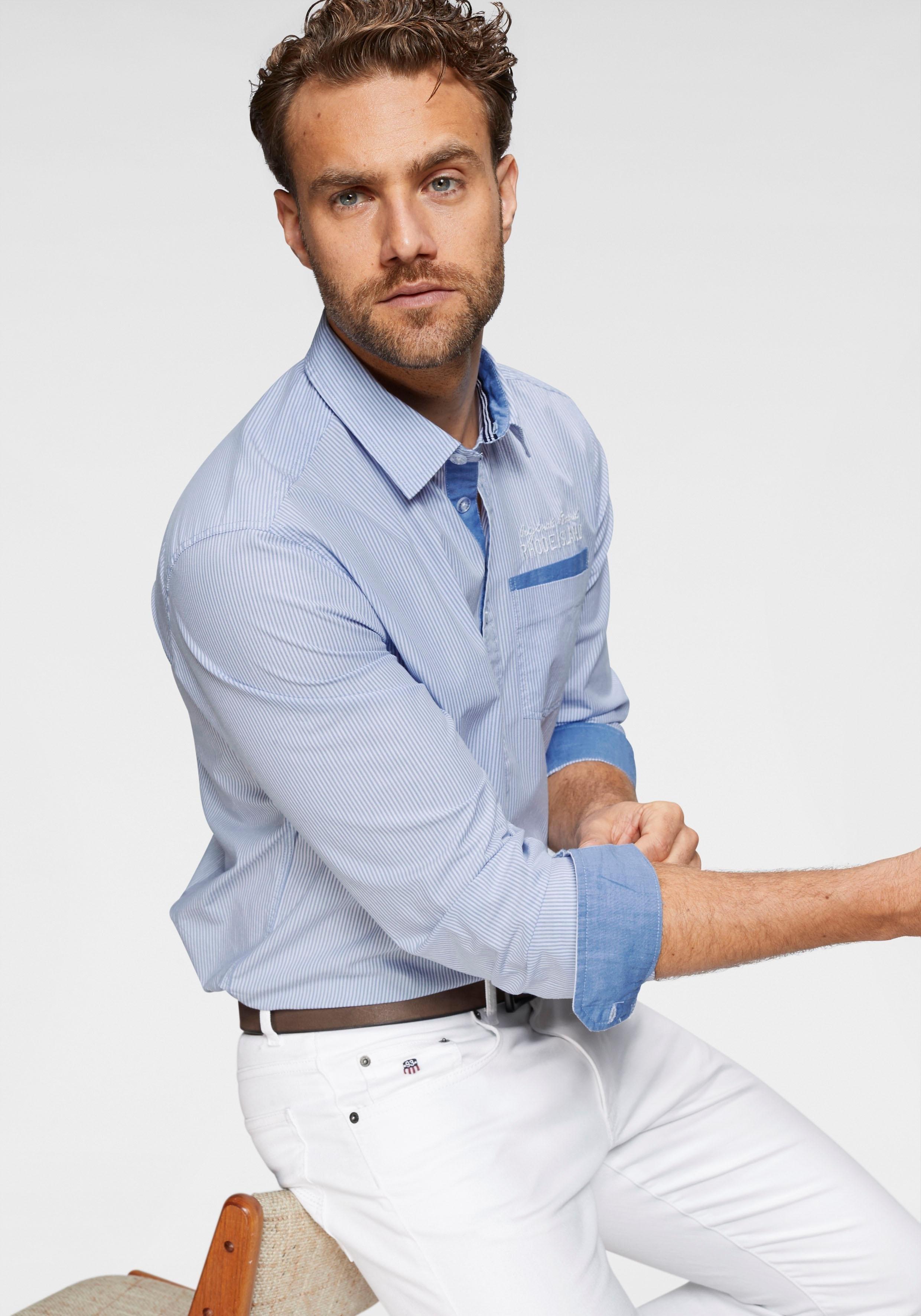 Gestreept Overhemd.Rhode Island Gestreept Overhemd In De Online Winkel Otto