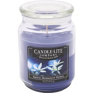 candle-lite geurkaars, 510 g, »everyday - exotic midnight petals« blauw