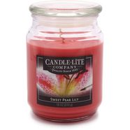 candle-lite geurkaars, 510 g, »everyday - sweet pear lily« rood