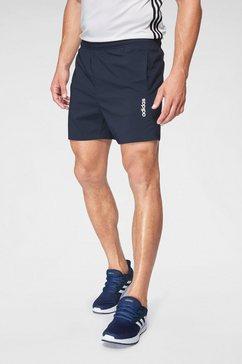 adidas performance functionele short »essentials plain chelsea« blauw