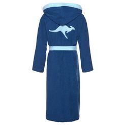 uniseks-badjas »jack«, kangaroos blauw