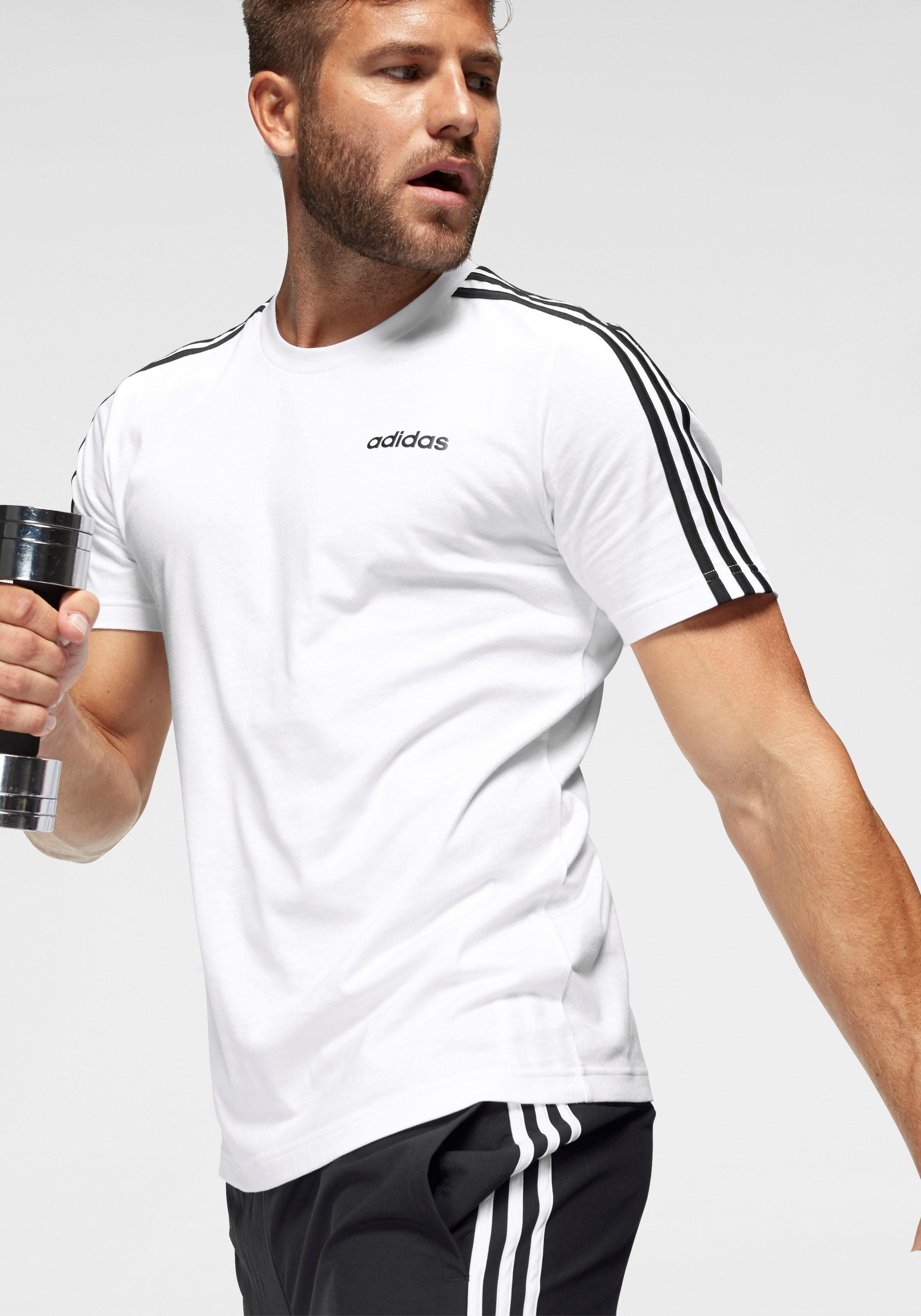 adidas T shirt »ESSENTIALS 3 STRIPES TEE«