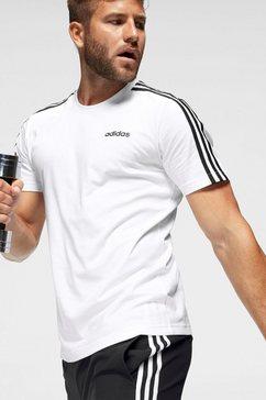 adidas t-shirt »essentials 3 stripes tee« wit