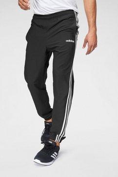 adidas joggingbroek »e 3 stripes wind pant« zwart
