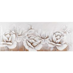 home affaire schilderij flowers 150-60 cm wit