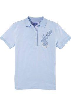 os-trachten dames-folkloreshirt met fonkelende hertapplicatie blauw