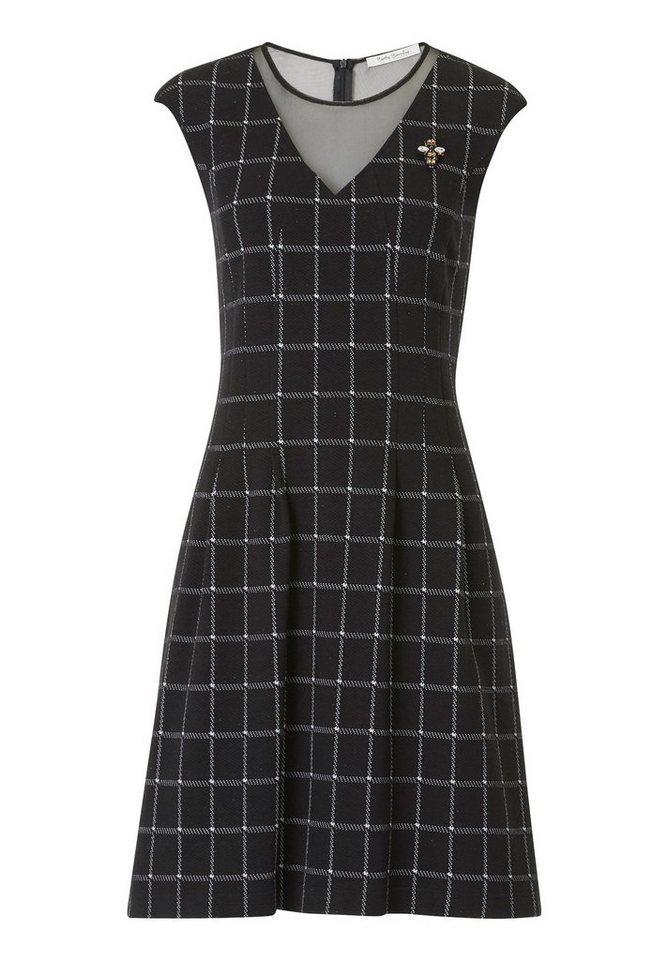 Betty Barclay Geruite jurk zwart
