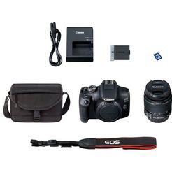 canon »eos 2000d ef-s 18-55 is ii value up kit« spiegelreflexcamera (ef-s 18-55 is ii, 24,1 mp) zwart
