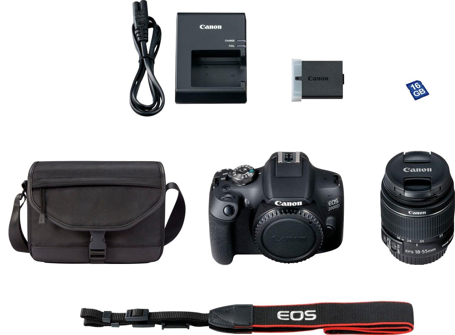 Canon »EOS 2000D EF-S 18-55 IS II Value Up Kit« spiegelreflexcamera (EF-S 18-55 IS II, 24,1 MP) nu online kopen bij OTTO