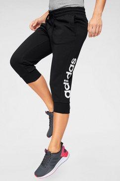 adidas performance trainingsbroek »essentials linear« zwart