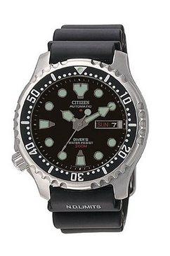 automatisch horloge, citizen, 'ny0040-09ee' zwart