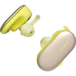 sony »wf-sp900« sporthoofdtelefoon (bluetooth, nfc, spraakbesturing, geïntegreerde microfoon) geel