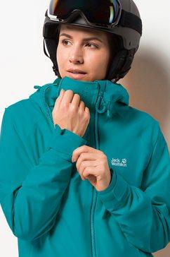 jack wolfskin ski-jack »exolight range jacket women« blauw