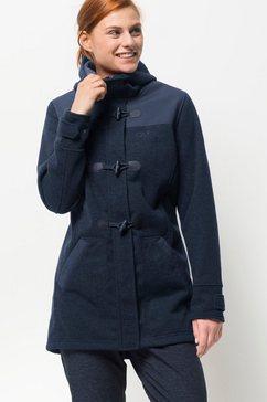 jack wolfskin duffelcoat »edmonton coat women« blauw