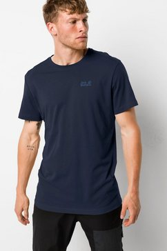 jack wolfskin t-shirt »essential t men« blauw