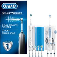 oral b mondverzorging center oxyjet-monddouche + oral-b smart 5000 wit