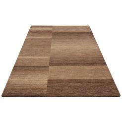 vloerkleed, »jorun«, theko exklusiv, rechthoekig, hoogte 14 mm, met de hand geweven bruin