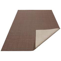 vloerkleed, »rhodos«, my home, rechthoekig, hoogte 3 mm, machinaal geweven bruin