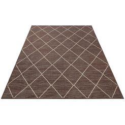 vloerkleed, »dubai«, home affaire collection, rechthoekig, hoogte 3 mm, machinaal geweven bruin
