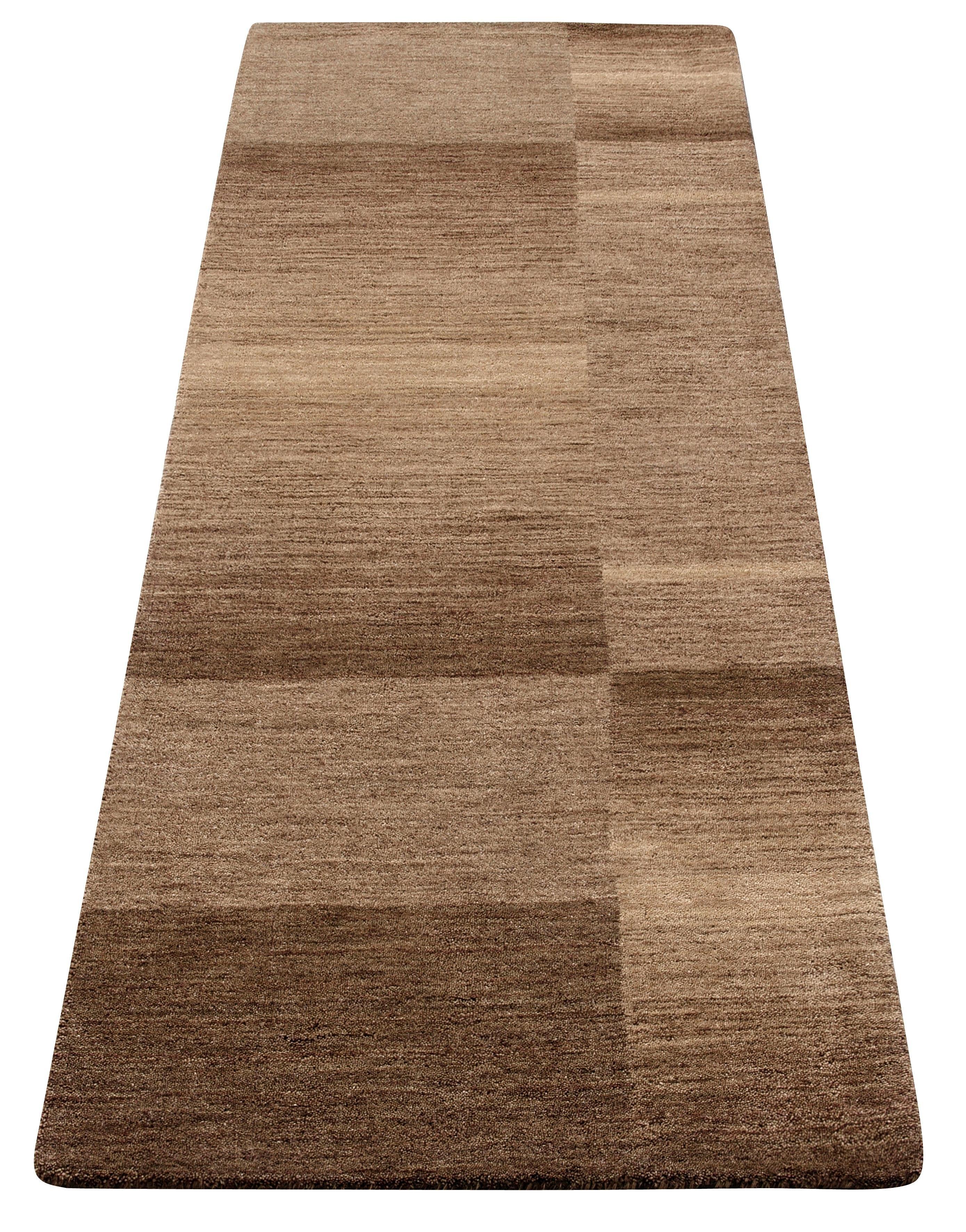 Theko Exklusiv Loper, »Jorun«, rechthoekig, hoogte 14 mm, met de hand geweven - verschillende betaalmethodes
