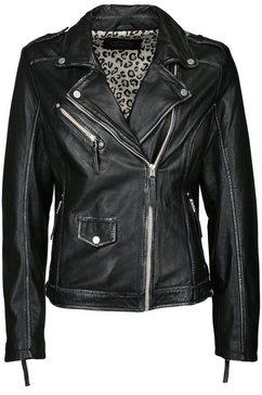 jcc bikerjack in used-look »51300« zwart