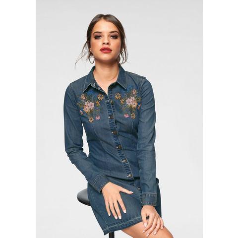 ONLY jeansjurk SKIPPER blauw