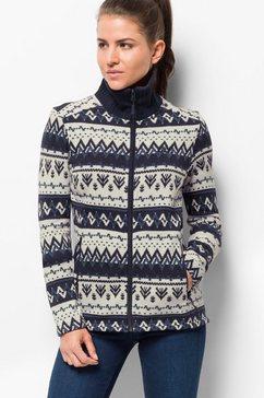 jack wolfskin fleecejack »nordic jacket women« blauw