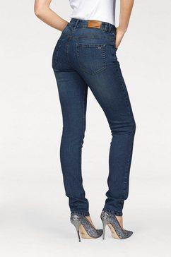 arizona slim fit jeans svenja - band met opzij elastische inzet high waist blauw