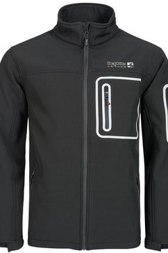 deproc active softshell-jack »westlook plus men« zwart