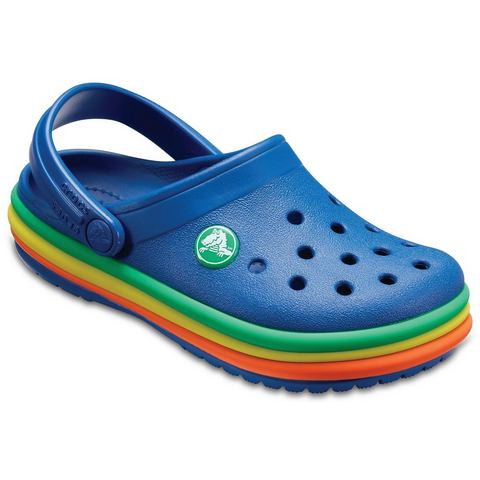 Crocs Klompen Blue Jean Crocband™ Rainbow Band s