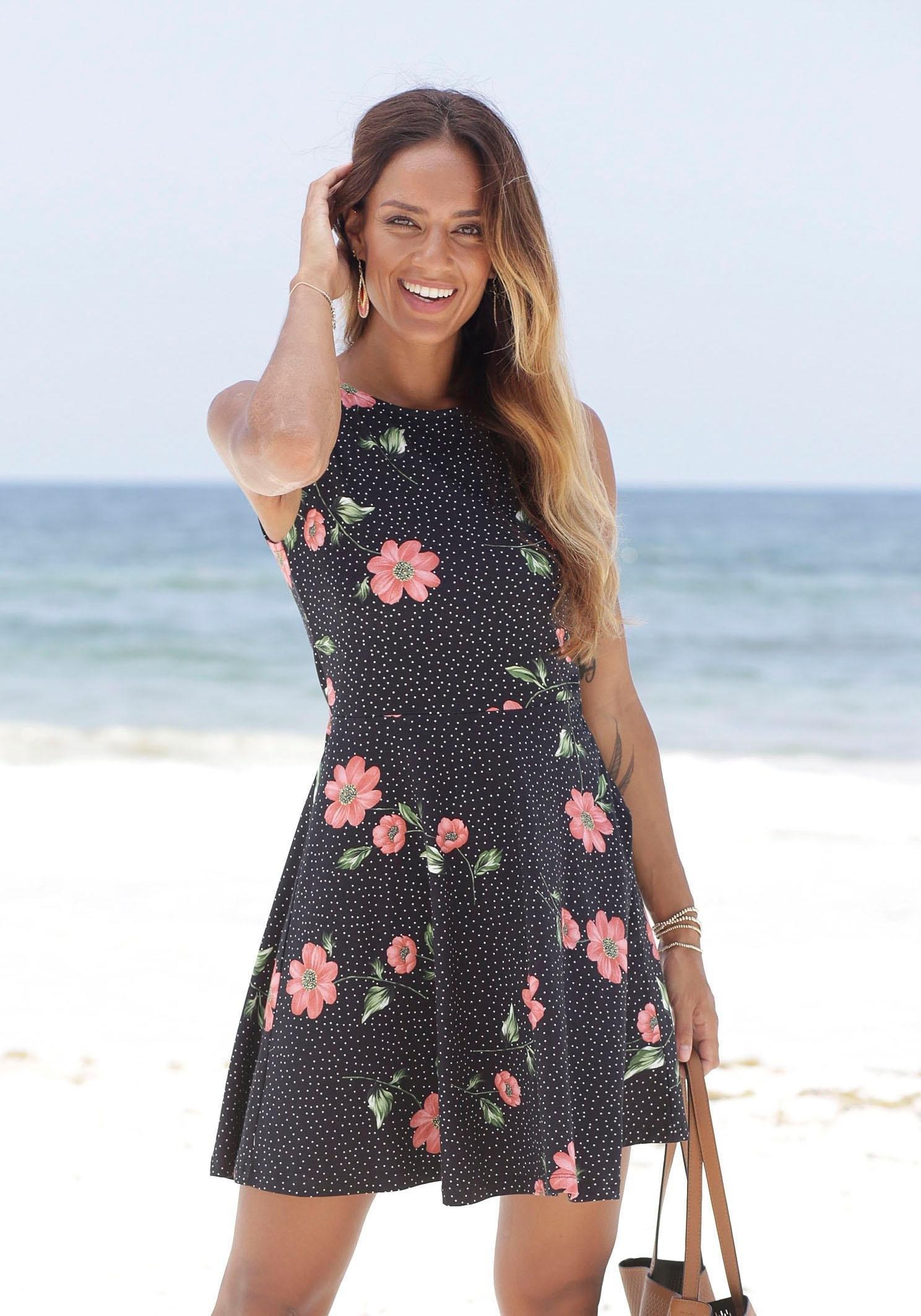 beachtime strandjurk met bloemenprint goedkoop op otto.nl kopen