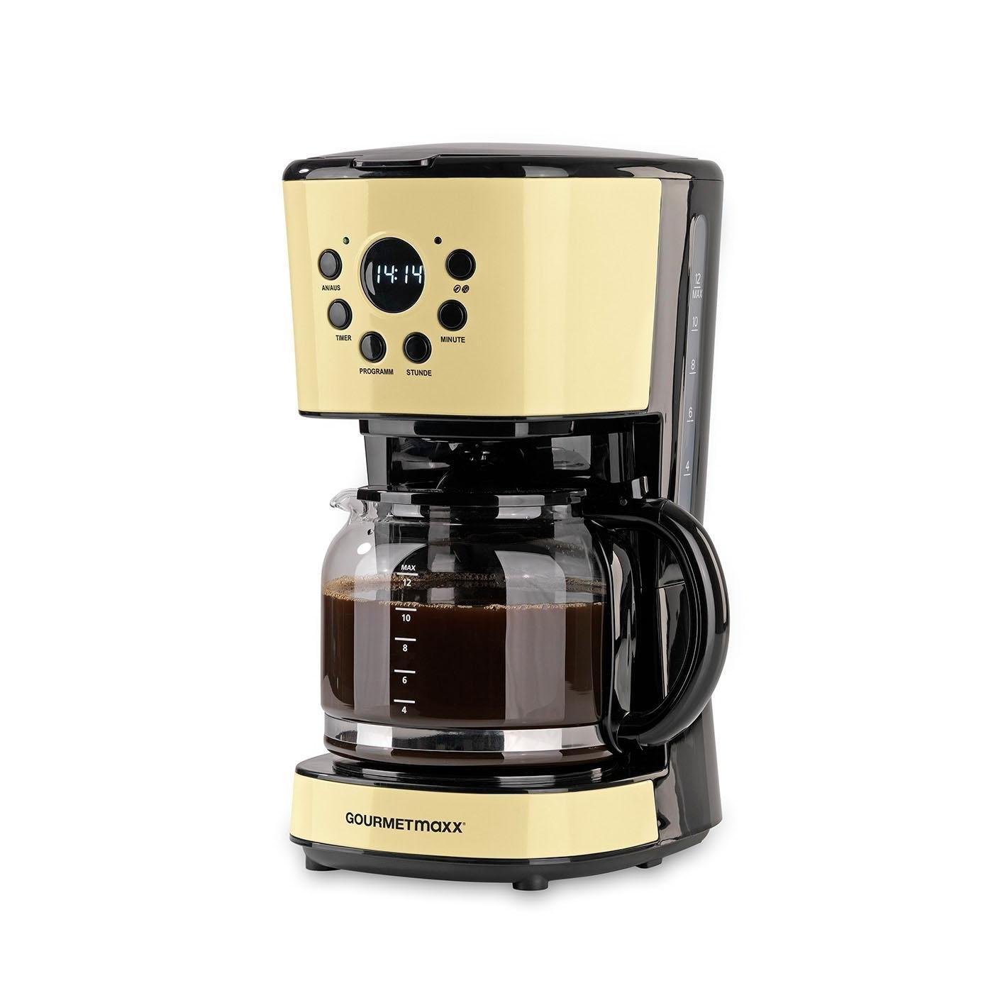 Gourmetmaxx koffiezetapparaat Retro 900W vanille, 1,5 l-kan, permanente filter 1x4 nu online bestellen