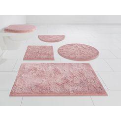 badmat »jos«, my home, hoogte 15 mm, geschikt voor vloerverwarming, sneldrogend, slijtvast roze
