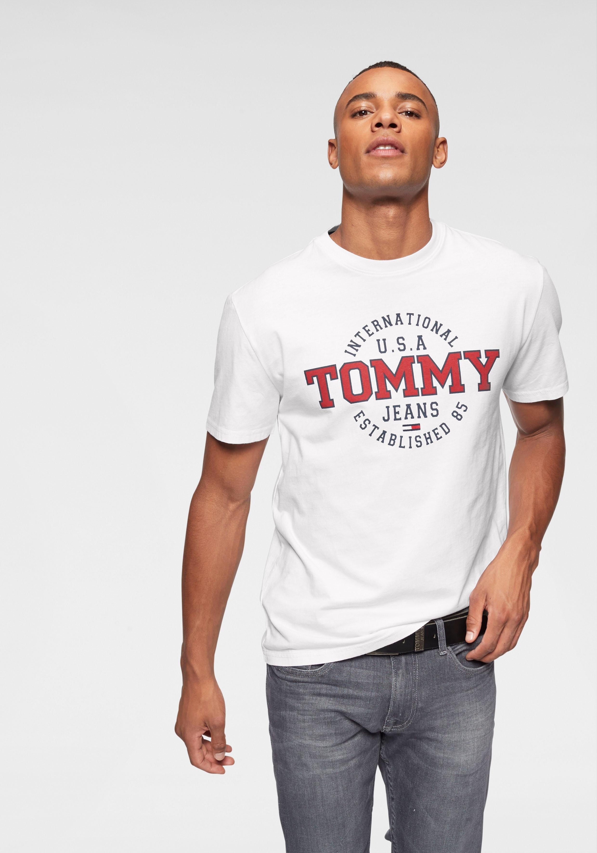 51c2423a TOMMY JEANS T-shirt »TJM CIRCULAR TEE« online verkrijgbaar | OTTO