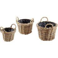 locker bloembak plantenmand (3 stuks) grijs