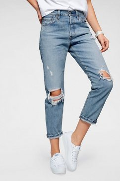 levi's destroyed jeans »501« blauw
