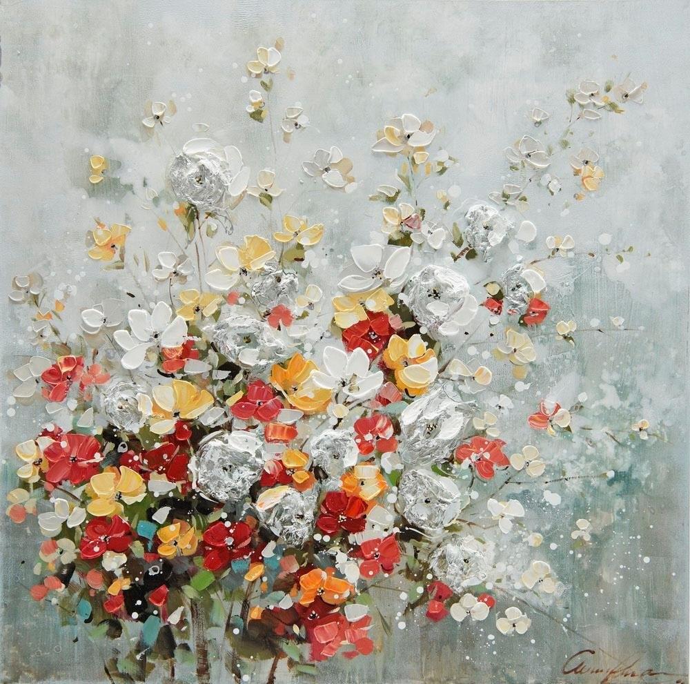 Op zoek naar een Home affaire Olieverfschilderij Florella 80x80 cm? Koop online bij OTTO