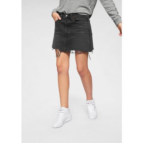 NU 15% KORTING: Levi's jeansrok Deconstructed Skirt