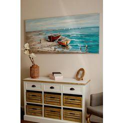 home affaire olieverfschilderij aan het strand 0 multicolor
