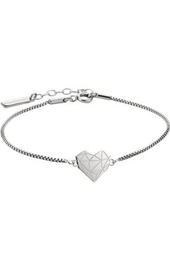 liebeskind berlin edelstalen armband »lj-0328-b-17, hart« zilver