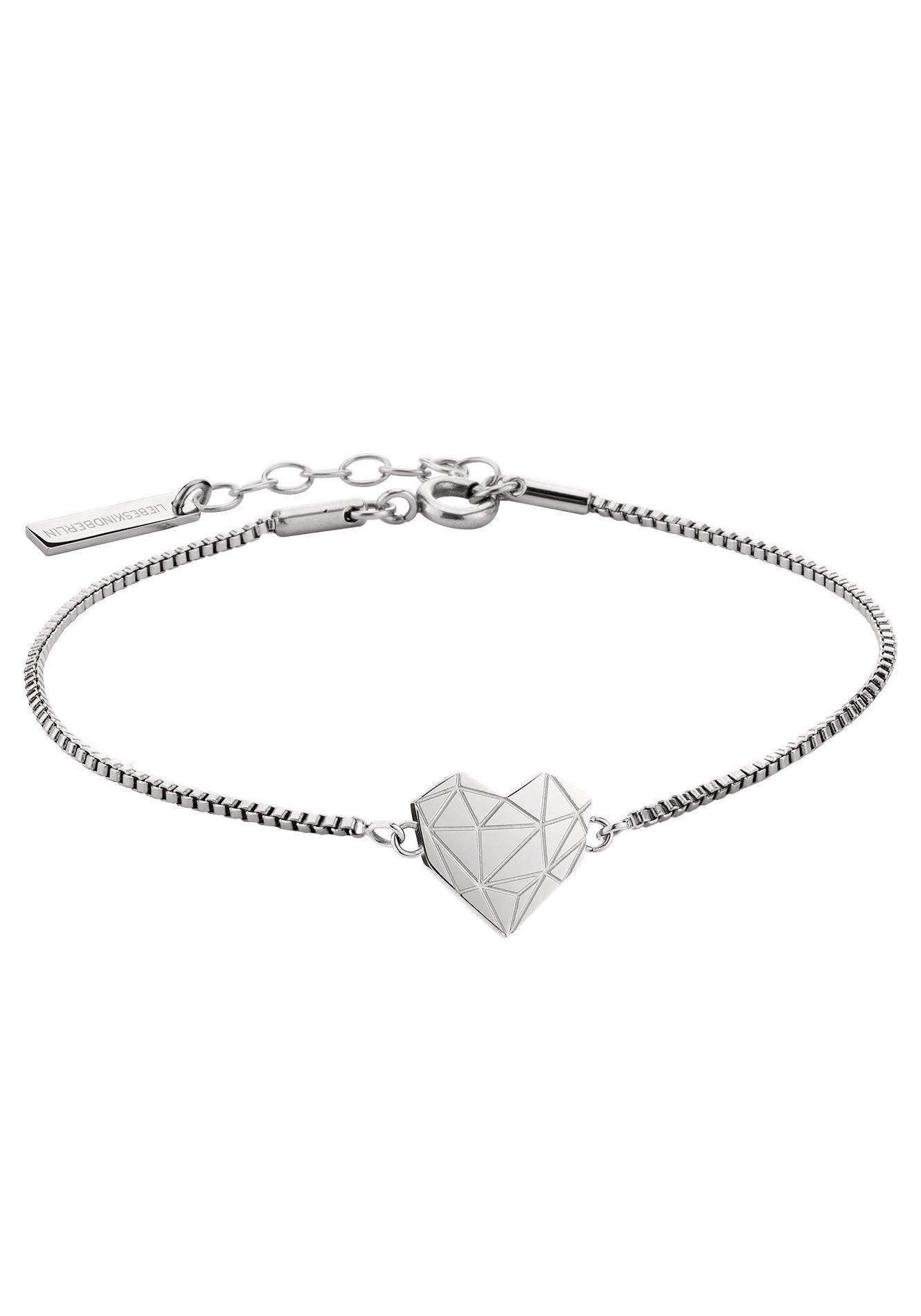 Liebeskind Berlin edelstalen armband »LJ-0328-B-17, hart« bij OTTO online kopen