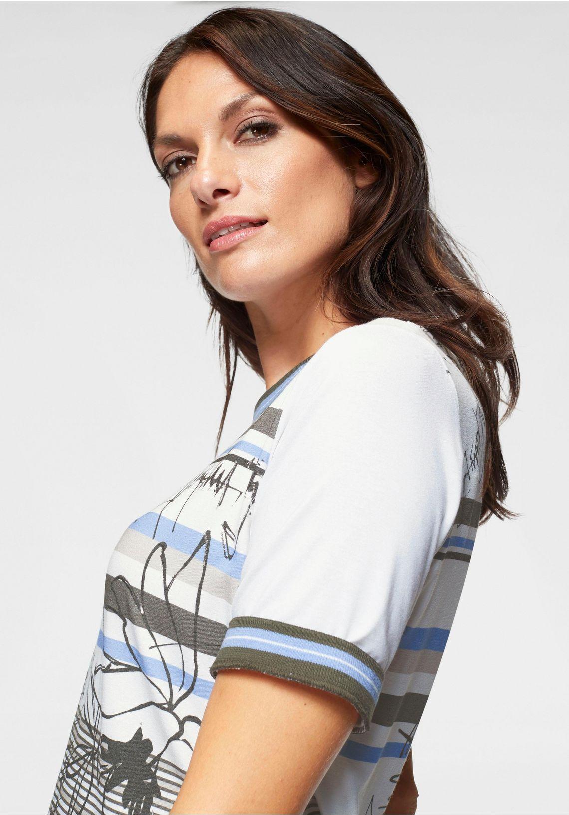Frank Walder Shirt Met Print Snel Gevonden Offwhite Gedessineerd CvcP5qyl