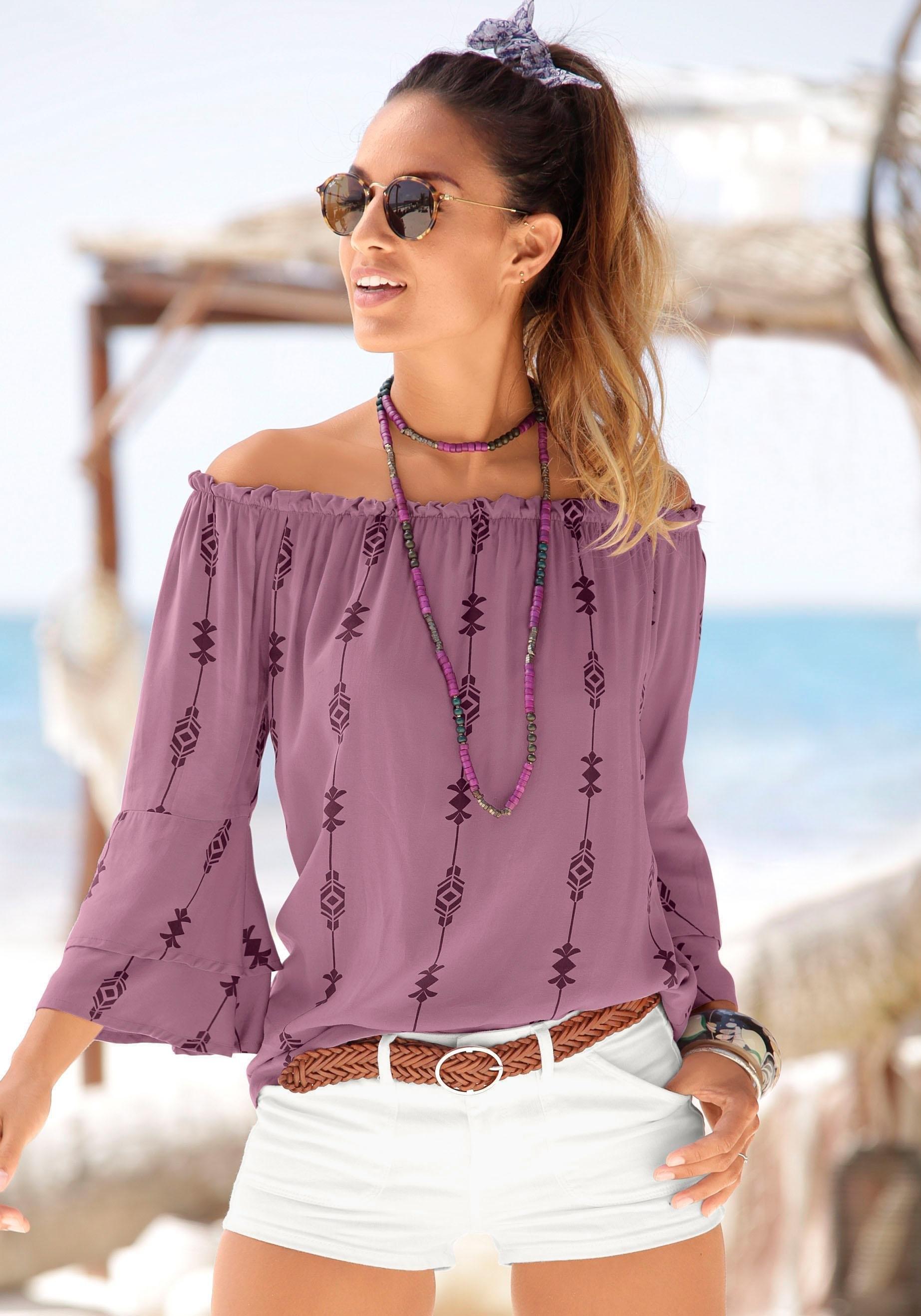LASCANA blouse met etnoprint bij OTTO online kopen