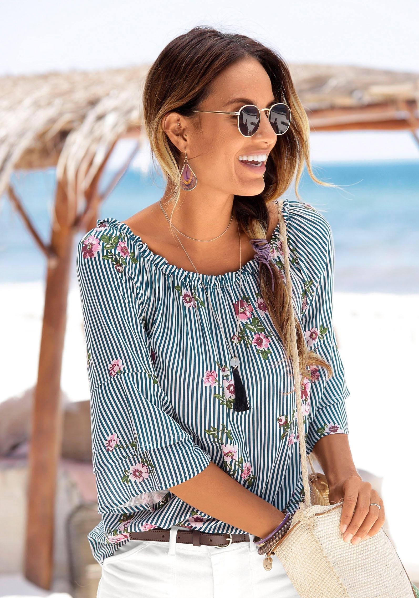 LASCANA blouse met een modieuze print online kopen op otto.nl
