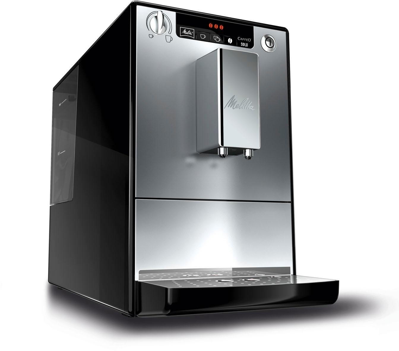 Melitta automatisch koffiezetapparaat CAFFEO® Solo® zwart/zilverkleur, E 950-103, 1,2 l-reservoir - gratis ruilen op otto.nl