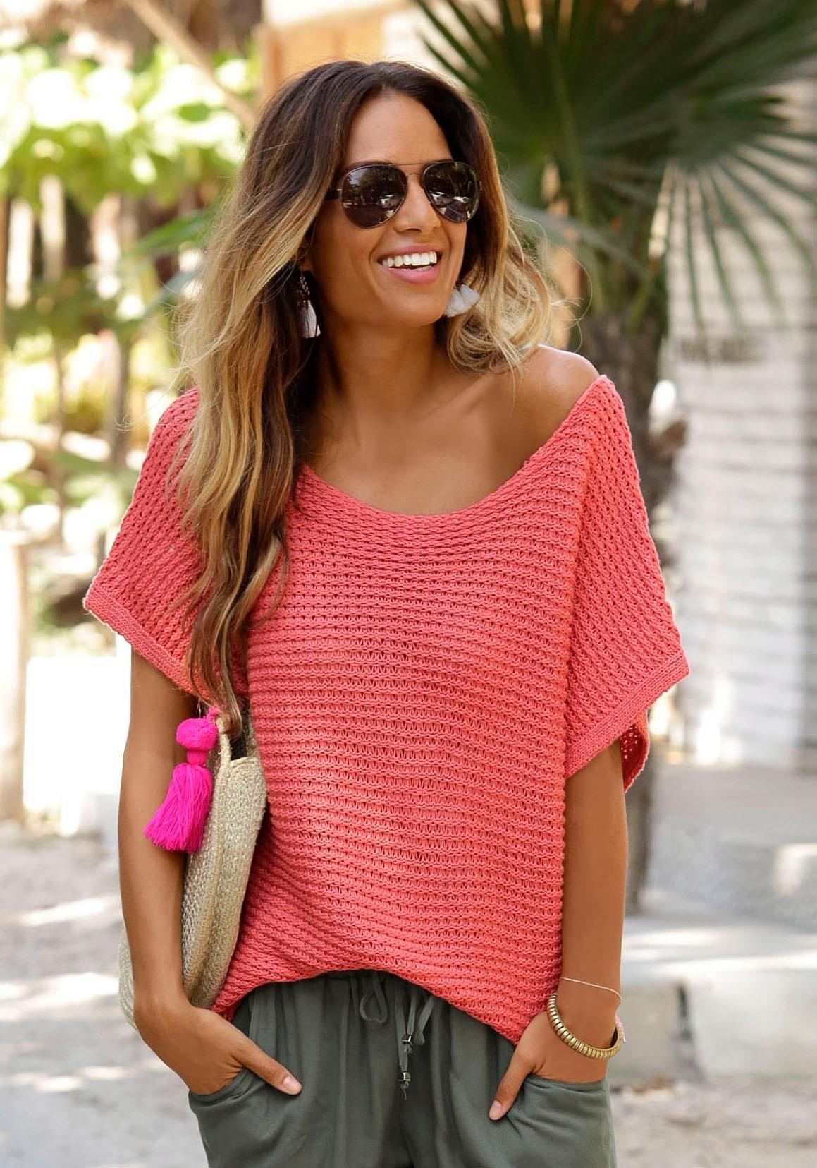 Lascana trui met korte mouwen bij OTTO online kopen